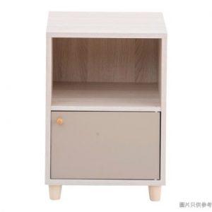 兩層儲物櫃420W*400D*530Hmm 淺胡桃色配奶茶或啡色